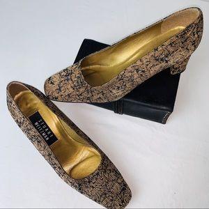 Vintage Stuart Weitzman Textured Cork Heels (7.5)